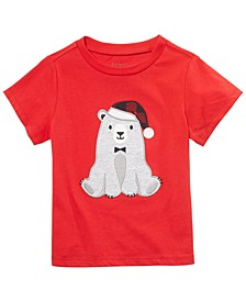 Baby Boys Santa Bear T-Shirt, Created For Macy's