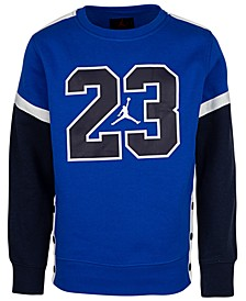 Big Boys 23 Fleece Snap Sweatshirt