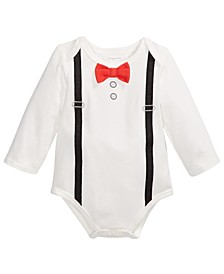 Baby Boys Suspenders Bodysuit, Created For Macy's