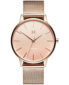Women's Boulevard Hermosa Rose Gold-Tone Stainless Steel Mesh Bracelet Watch 38mm
