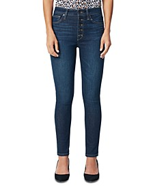 Charlie Ankle Exposed Button Skinny Jeans