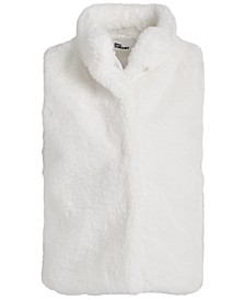 Toddler Girls Solid Faux Fur Vest