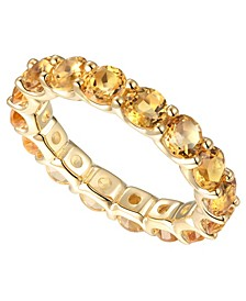 Citrine Eternity Band (2-5/8 ct. t.w.) in 14k Gold-Plated Sterling Silver