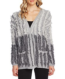 Cotton Fringe Colorblocked Cardigan
