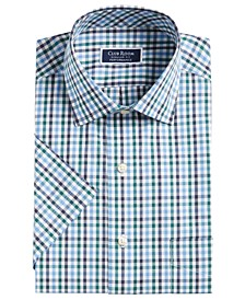 Men's Classic/Regular-Fit Stretch Wrinkle-Resistant Gingham Dress Shirt, Created For Macy's