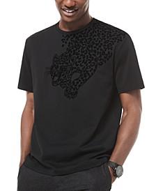 Men's Flocked Leopard Graphic T-Shirt