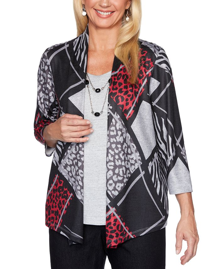 Alfred Dunner - Layered-Look Necklace Top