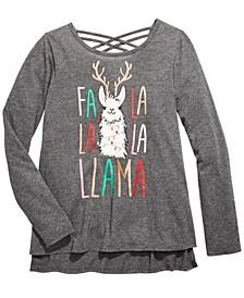 Big Girls Fa La Llama T-Shirt, Created For Macy's