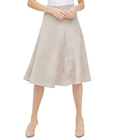 Faux-Suede Midi Skirt