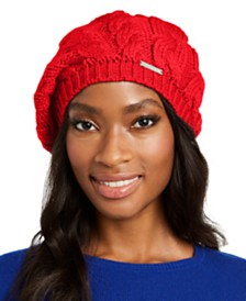 Michael Michael Kors Patchwork Cable-Knit Beret