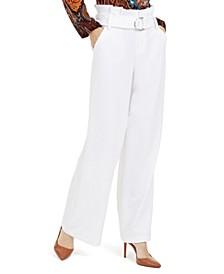 I.N.C. Paperbag-Waist Wide-Leg Pants, Created For Macy's