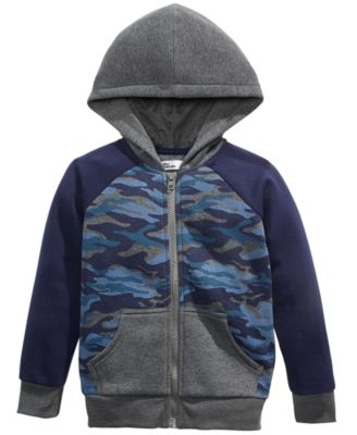 Little Boys Camo-Print Zip-Up Hoodie, Created For Macy's