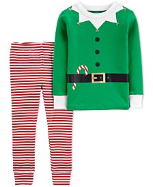 Toddler Boys 2-Pc. Cotton Elf Pajama Suit Set