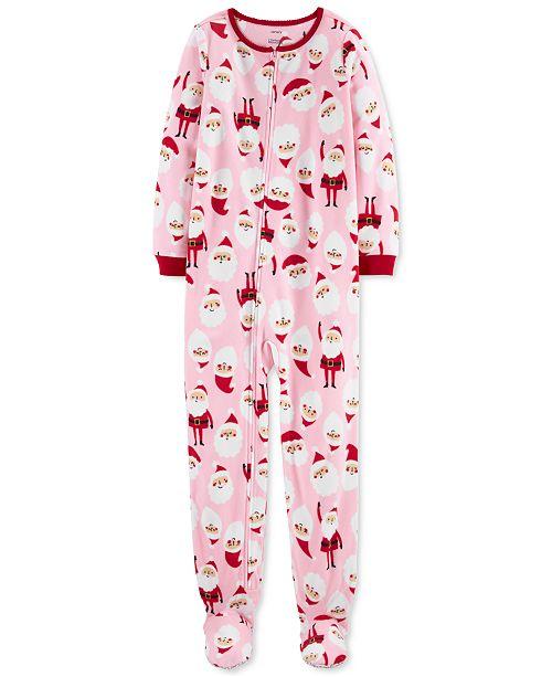 Carter's Little & Big Girls 1-Pc. Santa Fleece Footie Pajamas