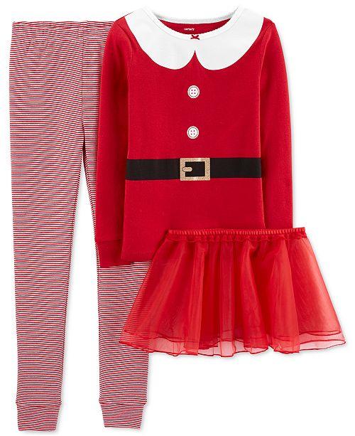 Carter's Little & Big Girls 3-Pc. Santa Top, Tutu & Pants Set