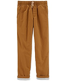 Little & Big Boys Khaki Poplin Play Pants