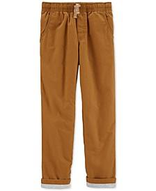 Little & Big Boys Khaki Poplin Play Pants