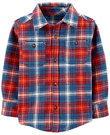 Baby Boys Cotton Flannel Plaid Shirt