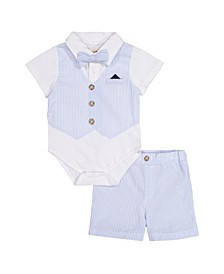 Beedle & Thread Baby Boy's Polo Shirtzie Short Set