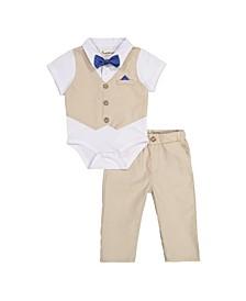 Beedle & Thread Baby Boy's Polo Shirtzie Pant Set
