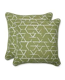 Fortress Kengo Artichoke Throw Pillow, Set of 2