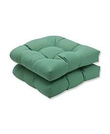 Sunbrella Dupione Paradise Wicker Seat Cushion, Set of 2