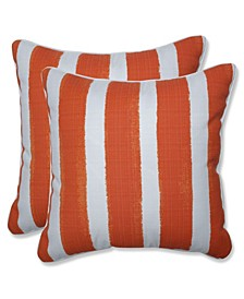"Nico Stripe 18"" x 18"" Outdoor Decorative Pillow 2-Pack"
