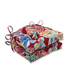 """Colsen Floral 15.5"""" x 16"""" Outdoor Chair Pad Seat Cushions 2-Pack"""