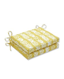 Pineapple Squared Corners Seat Cushion, Set of 2