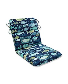 Hooked Lagoon Rounded Corners Chair Cushion