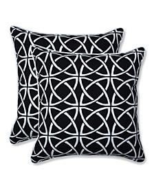 """Catamaran Tile 18"""" x 18"""" Outdoor Decorative Pillow 2-Pack"""