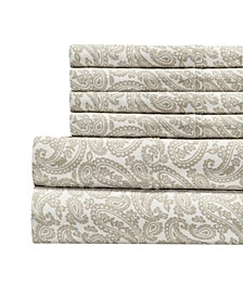 300 Thread Count with 2 Bonus Pillowcases, 6-PC Printed King Sheet Set