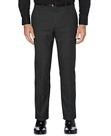 Portfolio Men's Slim-Fit Stretch Windowpane Dress Pants