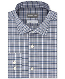 Micheal Kors Men's Slim-Fit Airsoft Stretch Performance Check Dress Shirt