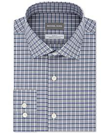Micheal Kors Men's Slim-Fit Airsoft Stretch Performance Check Dress Shirt