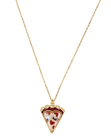 Betsey Johnson Pizza Pendant Necklace