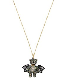 Bat Bear Pendant Long Necklace
