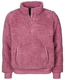 Big Girls Fuzzy  1/4-Zip Jacket, Created For Macy's