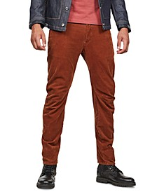 Men's Arc Cord 3D Slim-Fit Pants