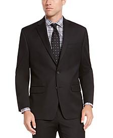 Men's Classic-Fit Black Solid Suit Jacket
