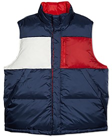 Men's Flag Reversible Vest with Magnetic Buttons