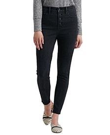 Bridgette Button-Fly Skinny Jeans