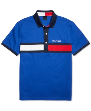 Tommy Hilfiger Adaptive Men's Custom-Fit Holly Josh Polo Shirt with Magnetic Buttons