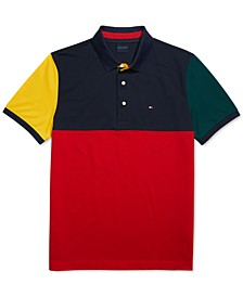 Men's Custom-Fit Carter Colorblock Polo Shirt with Magnetic Buttons