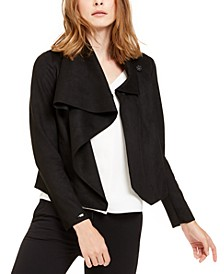 Faux-Suede Asymmetrical Jacket