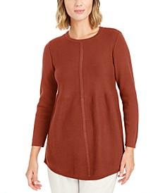 Knit Mixed Stitch Tunic, Created for Macy's
