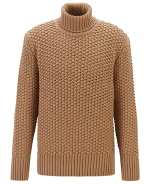 Men's Vintage Sweaters History Boss Mens T-Buti Wool-Blend Roll-Neck Sweater $451.00 AT vintagedancer.com