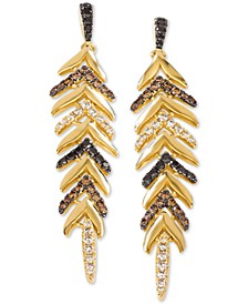 Heavenly Feather® Diamond Drop Earrings (1-1/2 ct. t.w.) in 14k Gold