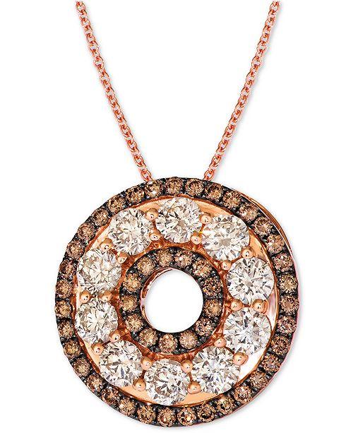 "Le Vian Diamond 20"" Pendant Necklace (2-1/2 ct. t.w.) in 14k Rose Gold"