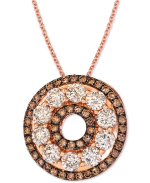 """Diamond 20"""" Pendant Necklace (2-1/2 ct. t.w.) in 14k Rose Gold"""